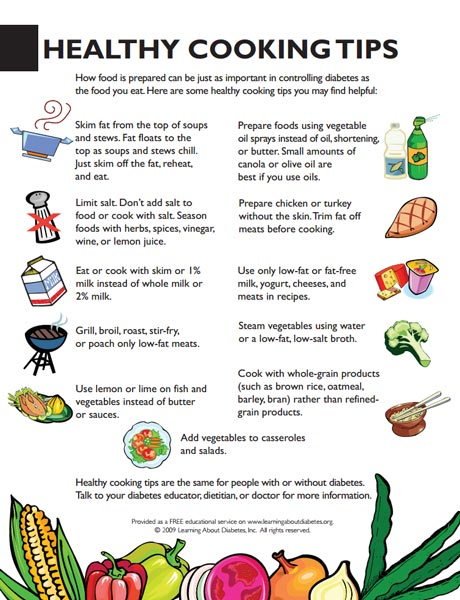 modify diet and eat healthy diabetes